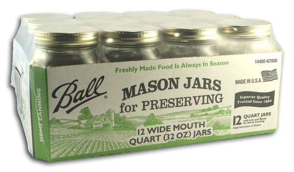 Wide Canning Jars (1 Qt)