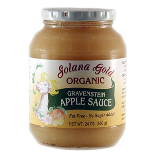 Gravenstein Apple Sauce-Glass