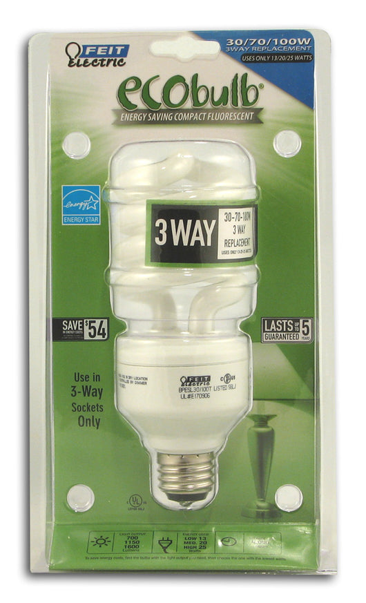 3-Way Twist Bulb, 13-20-25 watt