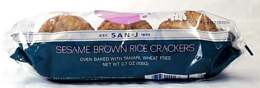 Wheat-free Sesame Brown Rice Cracker
