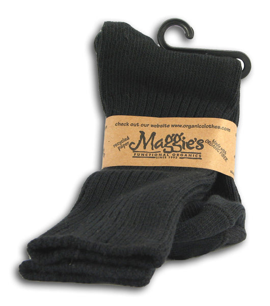 Crew Socks, Organic - Black (14-16)