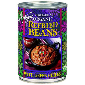 Refried Beans / Green Chiles, Org.