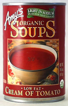 Amy's Cream of Tomato Soup, LS, Org
