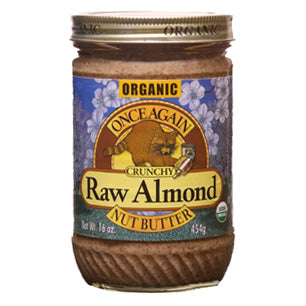 Almond Butter, Crunchy,Raw - Organic