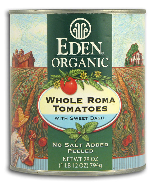 Whole Roma Tomatoes w/ Sweet Basil,