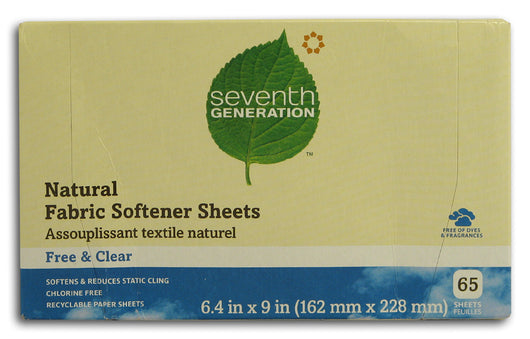Fabric Softener Sheets, Free Clear