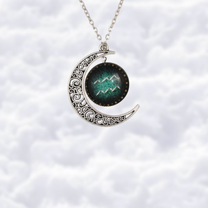 Crescent moon necklace - Zodiac signs