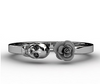 Image of Flower and Skull Ring