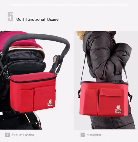 DIAPER-N-GO™ ON WHEELS - THE ULTIMATE STROLLER DIAPER BAG