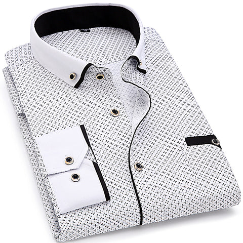 Fashion Men Long Sleeve Shirt