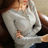 Image of Women's V neck cotton T-Shirt