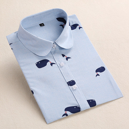Women shirt with whales
