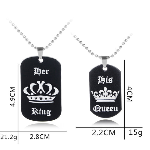 The Lovers Dog Tag Necklaces