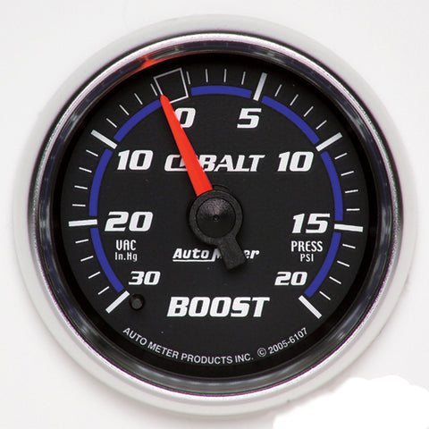 Autometer Cobalt Boost gauge -30>+20psi - 6107