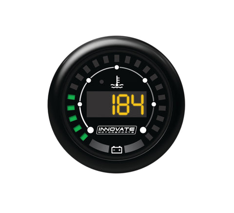 Innovate Motorsports MTX-D: Water Temperature & Battery Voltage 52mm Gauge - IN3853