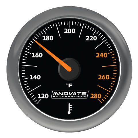 Innovate Motorsports MTX-A: Water / Oil (Fluid) Temperature Gauge 52mm - IN3861