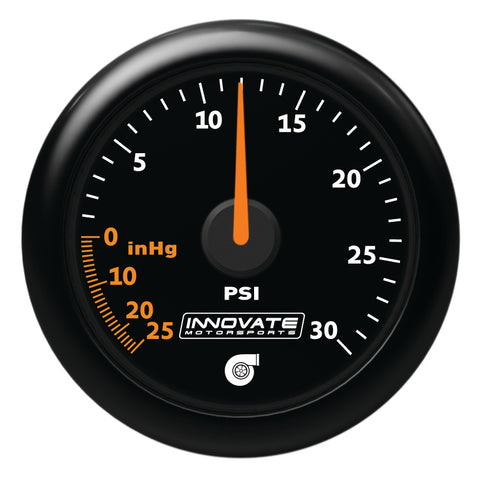Innovate Motorsports MTX-A: 30 PSI Vacuum / Boost Gauge 52mm - IN3908