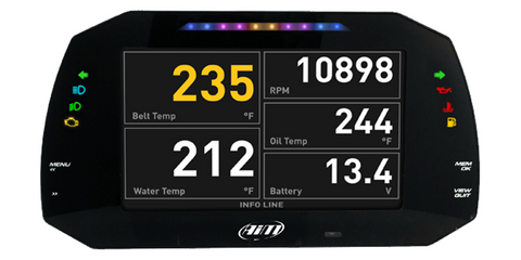 AIM MXG 1.2 Street Edition Dash Display System / Digi Dash 7""