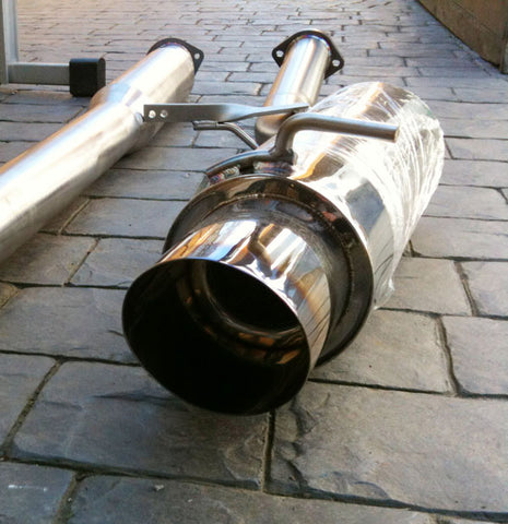 "Mitsubishi EVO 7 / 8 / 9 Exhaust System - 3"" Diameter - UK Made - Cat Back"