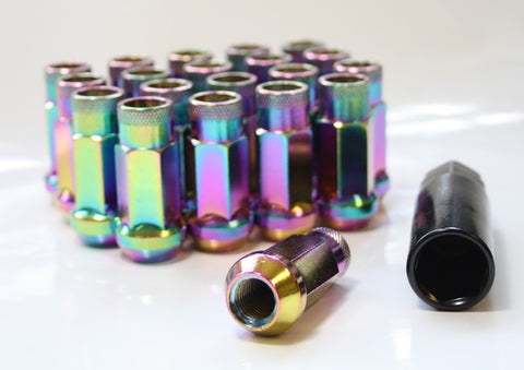 M12 x 1.5 GT50 Wheel Nut set (20) Burnt Titanium (Neo Chrome)
