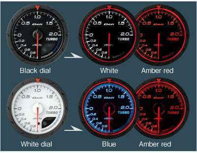 Defi Advance CR Series Boost Gauge 52mm - 2.0 Bar Black or White