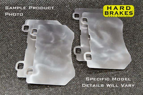 HARD BRAKE Titanium Heat Shields / shims for AP5555 Calipers