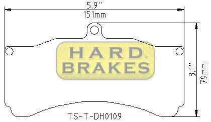 HARD BRAKE Titanium Heat Shields / shims for K-Sport 8 pot Calipers