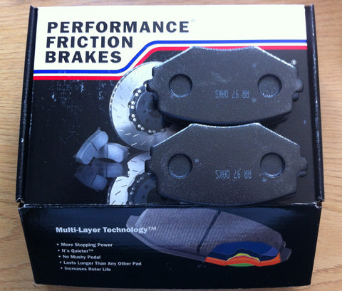 Mazda MX5 1.8 Front Performance Friction Brake Pads - .97 Compound
