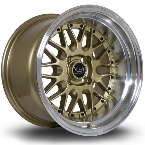 Rota Kensei 15x8 4x100 ET0 Silver with Lip Alloy wheel