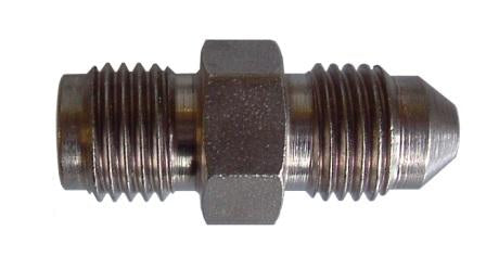 Oil Feed Adaptor Male-Male 7/16x24tpi > -4AN