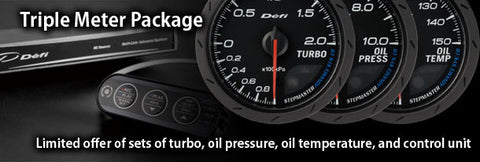 Defi Advance BF Triple gauge package - Boost, Oil Temp and Oil Pressure