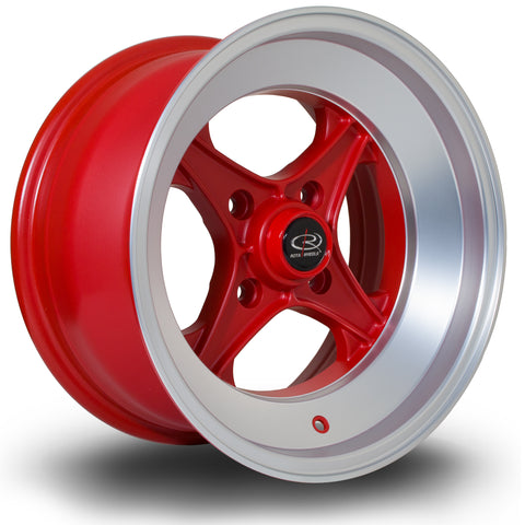 Rota X04 15x8 4x114 ET0 Silver with LipM Alloy wheel