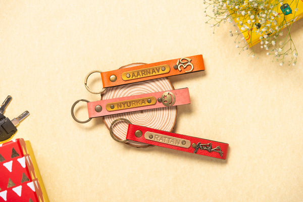 Personalized Keychain Set of 3
