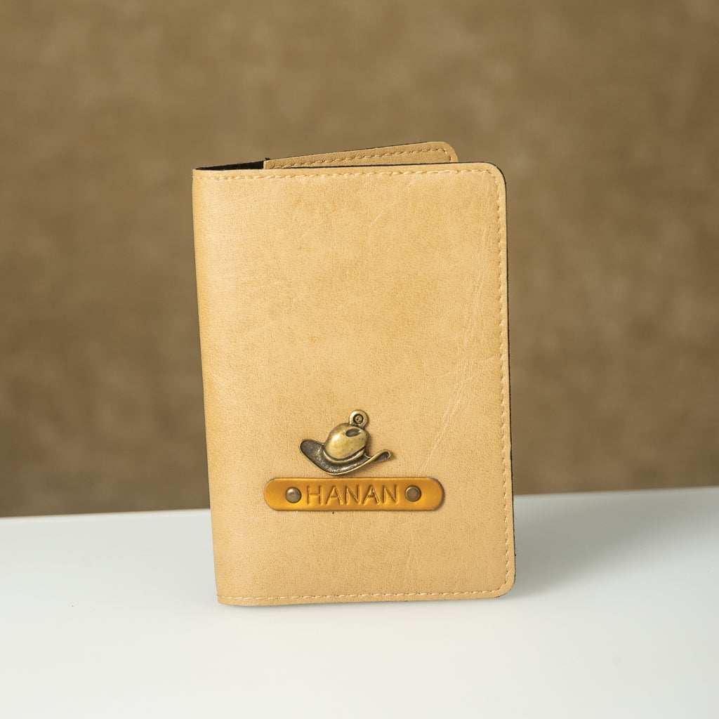 Beige Passport Cover