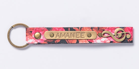 Pink Floral Keychain