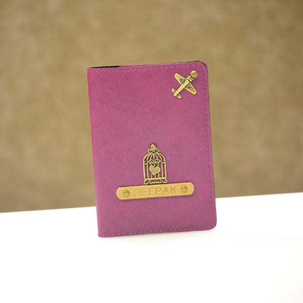 Personalized Magenta Passport Cover