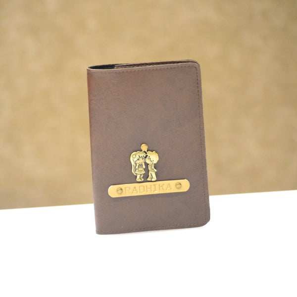 Personalized Coffee Brown Passport Cover