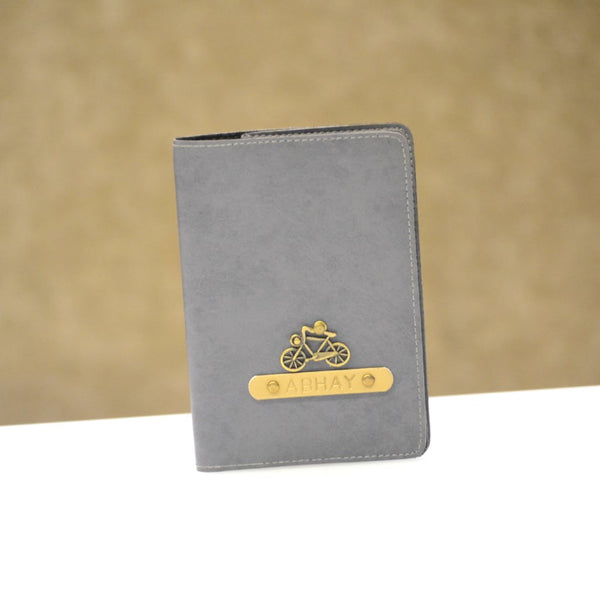 Personalized Grey Passport Cover
