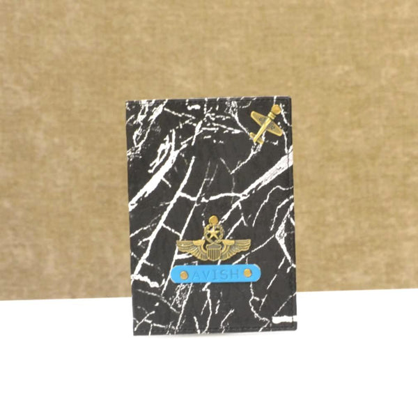 Black Marble Passport Cover