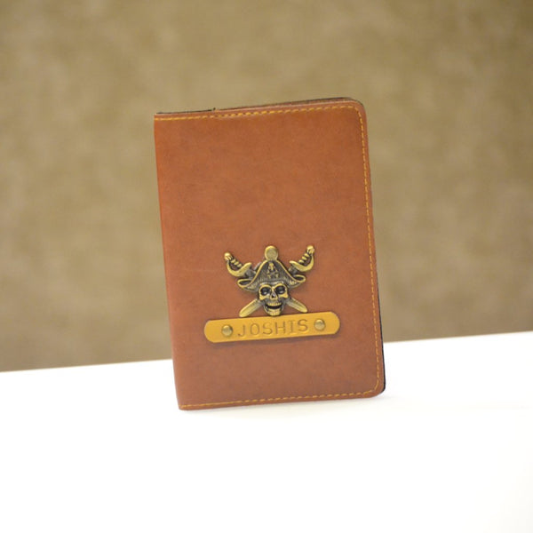 Personalized Tan Brown Passport Cover