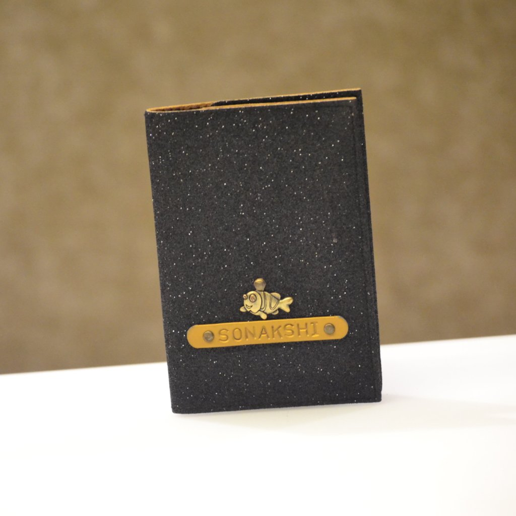 Personalized Starry Black Passport Cover