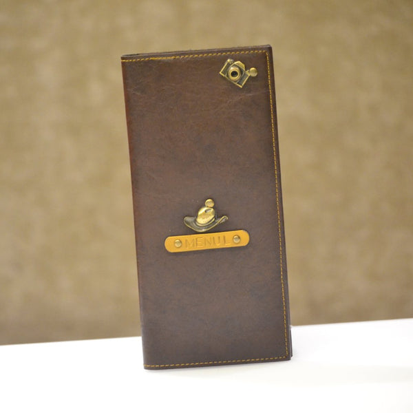 Coffee Brown Travel Folder