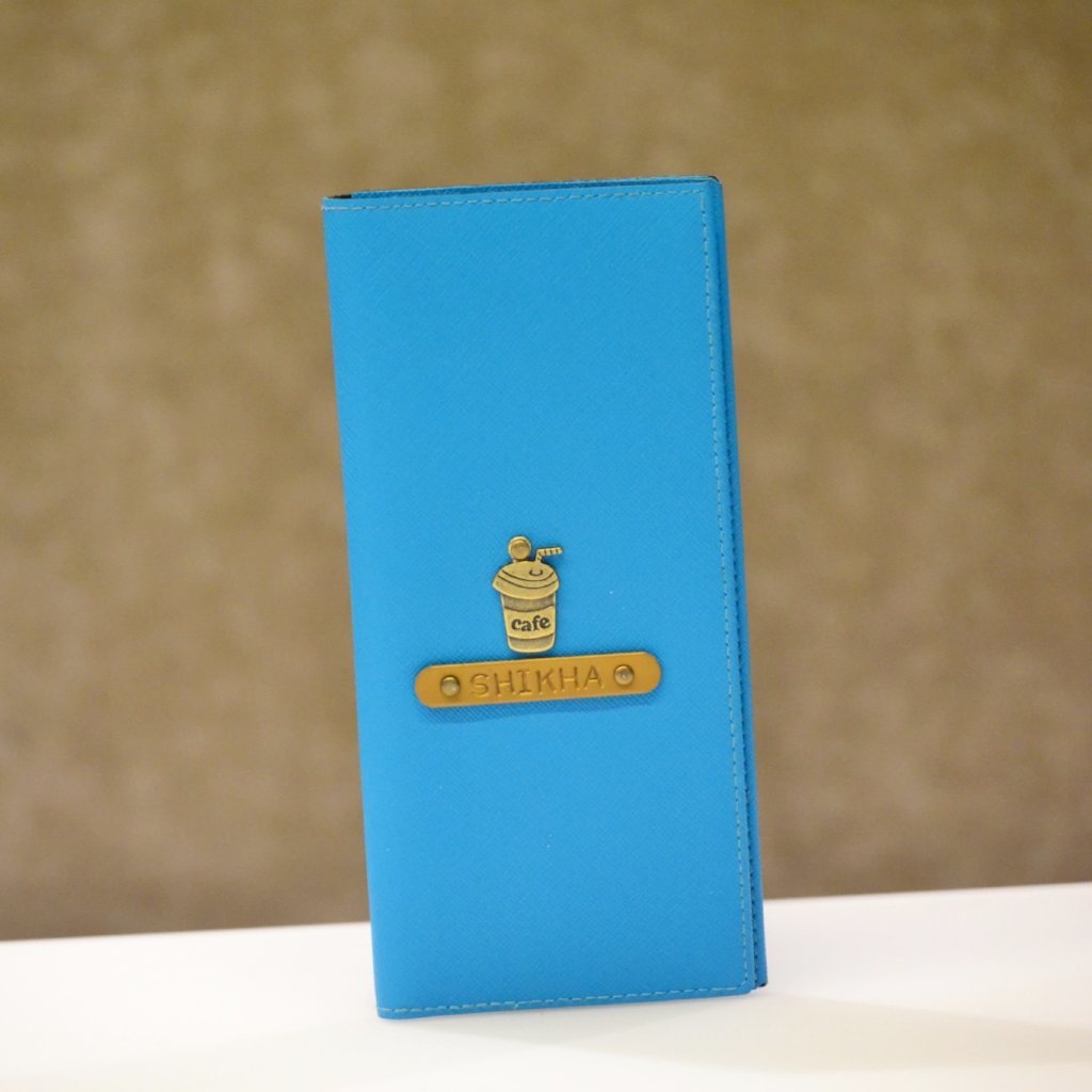 Personalized Turquoise Blue Travel Folder