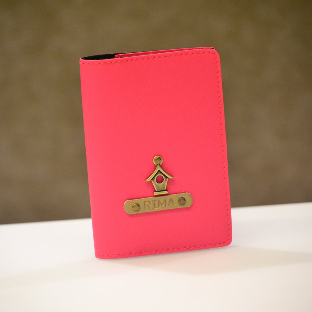 Personalized Hot Pink Passport Cover