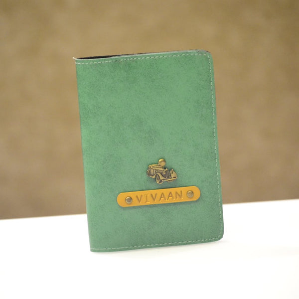 Personalized Eco Green Passport Cover
