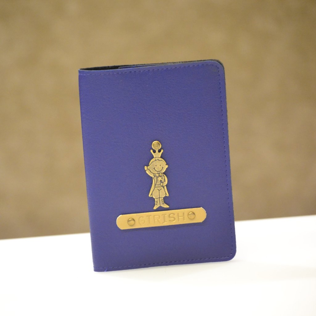 Personalized Royal Blue Passport Cover
