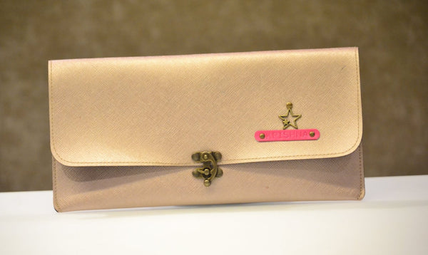 Personalized Rose Gold Clutch