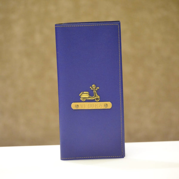 Personalized Royal Blue Travel Folder
