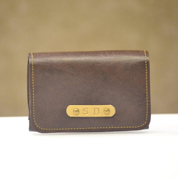 Dark Brown Business Card Holder
