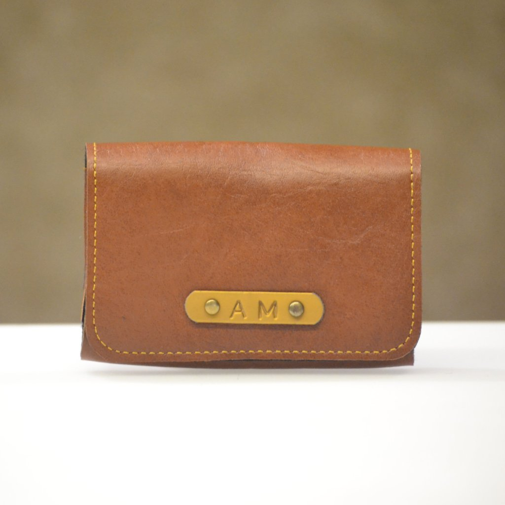 Tan Brown Business Card Holder